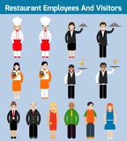 Restaurant employees flat Stock Images