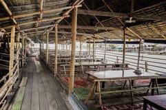 Restaurant en bambou Photo stock