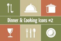 Restaurant en de Grafiek van de Catering Royalty-vrije Stock Afbeeldingen