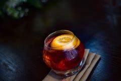 Restaurant en een goed glas royalty-vrije stock afbeeldingen