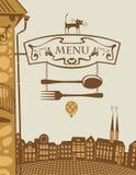 Restaurant en kat Royalty-vrije Stock Afbeelding