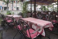 Restaurant en L'Isle-sur-La-Sorgue Photo stock