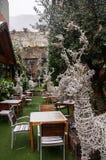 Restaurant en La Vella de l'Andorre Photographie stock libre de droits