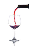 Restaurant en verre de vin Photo stock