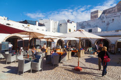 Restaurant in Essaouira, Morocco Stock Image