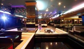 Restaurant européen dans des couleurs lumineuses Image stock