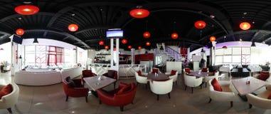 Restaurant européen dans des couleurs lumineuses Image libre de droits