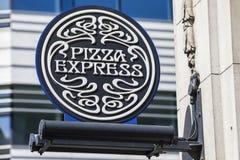 Restaurant exprès de pizza Photo stock
