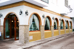 Restaurant exterior stock photo