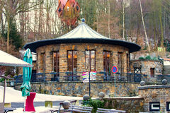 Restaurant at the fairy grottoes in Saalfeld Stock Photography