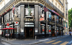 The restaurant famous American Dream, near Opera district, Paris, France. Royalty Free Stock Images