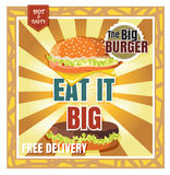 Restaurant Fast Foods menu burger on beautiful background vector Royalty Free Stock Photos