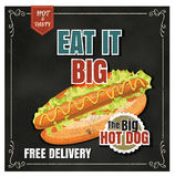 Restaurant Fast Foods menu hot dog  on chalkboard vector format Royalty Free Stock Photography