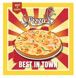 Restaurant Fast Foods menu pizza on beautiful background vector Stock Photos