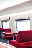 The restaurant in fast train Stock Images
