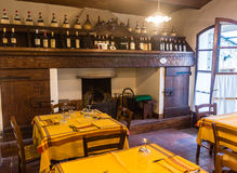 Restaurant of Fattoria Montagliari. Italy Royalty Free Stock Images