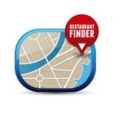 Restaurant finder. App button vector Royalty Free Stock Photos