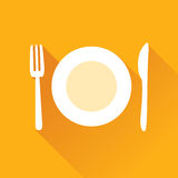 Restaurant Flat Icon Royalty Free Stock Image