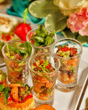 Restaurant food canapes appetizers Royalty Free Stock Photos
