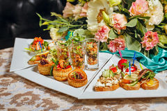 Restaurant food canapes appetizers Stock Image