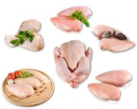 Fresh and raw chicken meat isolated on white. Restaurant food color white background view isolated fresh Stock Images