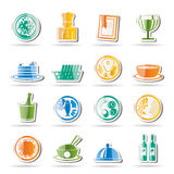 Restaurant, food and drink icons Royalty Free Stock Images