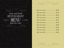 Restaurant food and drink menu Stock Photos