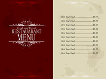 Restaurant food and drink menu Royalty Free Stock Image