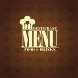 Restaurant  food and drinks , retro menu style Stock Photo