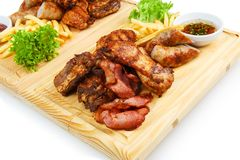 Restaurant food  - grilled meat assortment Royalty Free Stock Photography