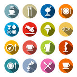 Restaurant - Food Icons Set Royalty Free Stock Images
