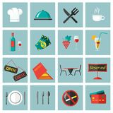 Restaurant Food Icons Set Stock Photos