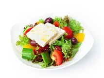 Restaurant food isolated - greek salad Royalty Free Stock Image