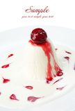 Restaurant food isolated - panna cotta dessert Royalty Free Stock Images