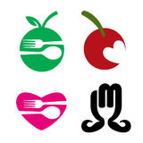 Restaurant Food Logo. Logo concepts for restaurants and food industry Stock Images