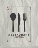 Restaurant food menu Stock Photography