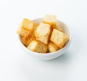 Restaurant food  - salted crouton beer snack Stock Photos