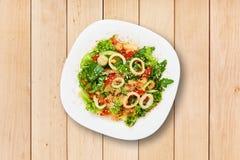 Restaurant food - seafood salad with calamari Stock Images
