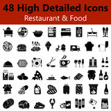 Restaurant and Food Smooth Icons Royalty Free Stock Photography