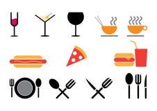 Restaurant food vector symbols Stock Photos