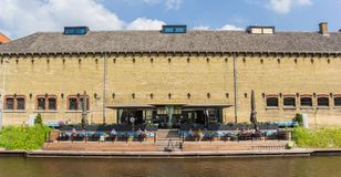 Restaurant in the former prison building of Leeuwarden. Netherlands stock photography
