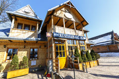 Restaurant, formerly villa Anielowka in Zakopane Royalty Free Stock Photography