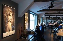 Restaurant at Fotografiska in Stockholm Royalty Free Stock Images