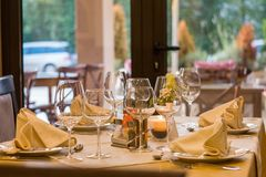 Restaurant, Function Hall, Stemware, Wine Glass Royalty Free Stock Images