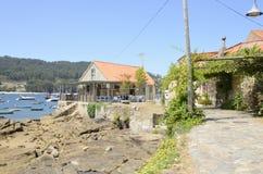 Restaurant in the Galician coastline Stock Image