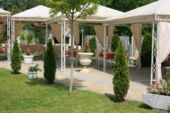 Restaurant garden royalty free stock photo
