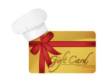 Restaurant gift card illustration design Stock Image
