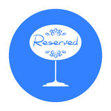 Restaurant golden reserved sign icon in black style isolated on white background. Restaurant symbol stock vector Royalty Free Stock Photography