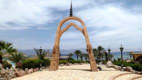 Restaurant in Golf van Aqaba stock foto