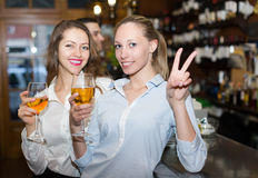 Restaurant guests at tavern Stock Images